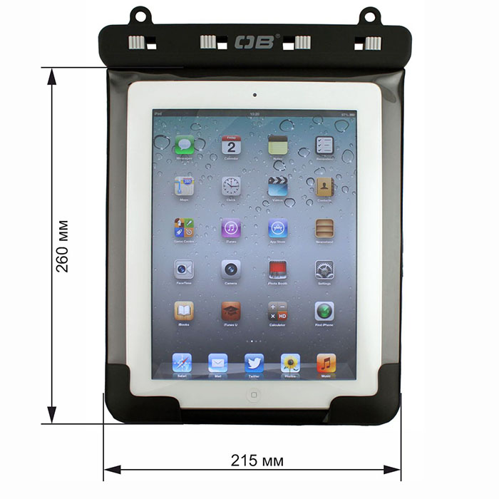 Водонепроницаемый чехол OverBoard OB1086BLK - Waterproof iPad Case with Shoulder Strap (Black) Фото 1