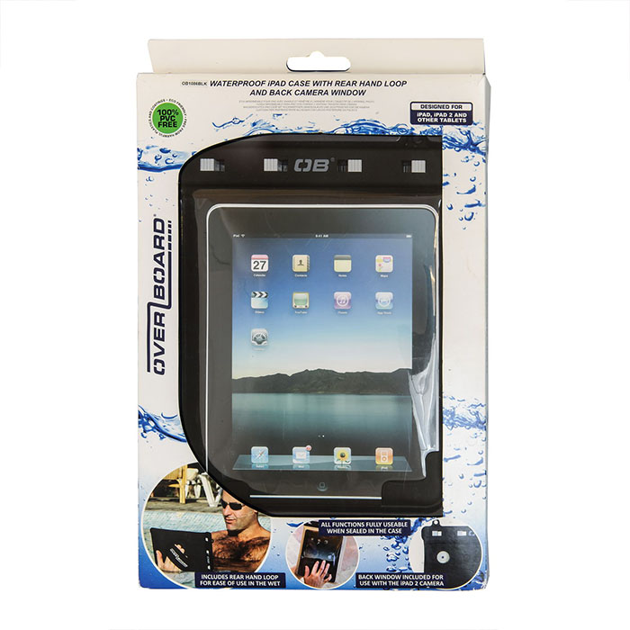 Водонепроницаемый чехол OverBoard OB1086BLK - Waterproof iPad Case with Shoulder Strap (Black) Фото 6